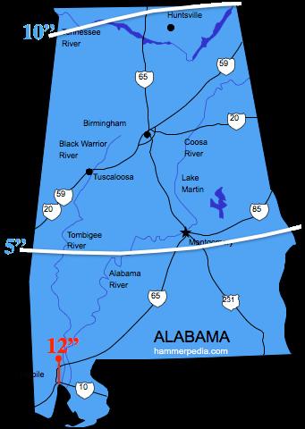 Alabama Frost Line Map