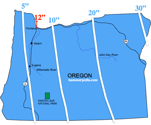 Oregon-Frost-Line-Map