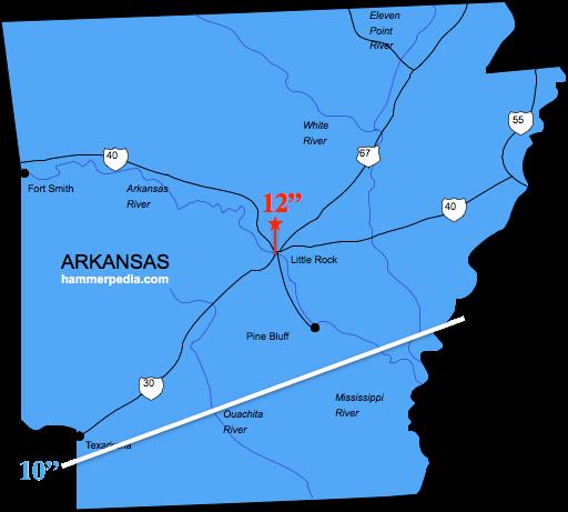 Arkansas Frost Line - Hammerpedia