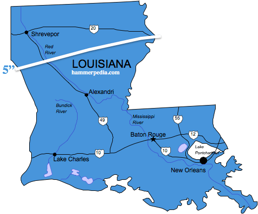Louisiana-Frost-Line-Map