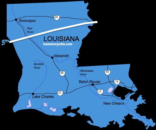 Louisiana-Frost-Line-Map
