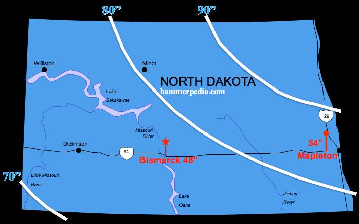 North-Dakota-Frost-Line-Map