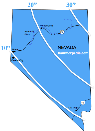 Nevada-Frost-Line-Map