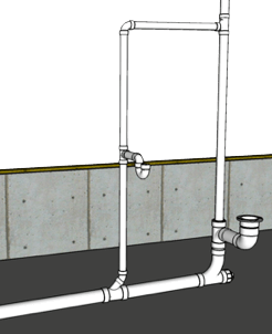 How To Plumb a Bathroom (with multiple diagrams) - Hammerpedia Shower Plumbing Schematic on shower plumbing code, shower plumbing design, shower plumbing rough-in dimensions, intercom schematic, shower plumbing fixtures, air conditioning schematic, shower plumbing installation, baseboard heating schematic, shower tub plumbing, toilet drain schematic, bathroom electrical schematic, shower plumbing components, shower plumbing assembly, delta faucet schematic, shower plumbing access panel, shower plumbing parts, shower plumbing layout, shower plumbing repair, shower plumbing hardware, shower plumbing materials,